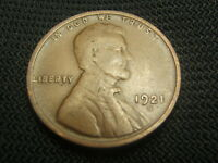 1921-S FINE F  OLD  LINCOLN WHEAT CENT EACH ADDITIONAL COIN SHIPS FREE