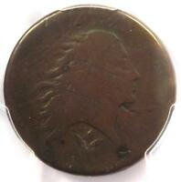 1793 FLOWING HAIR WREATH CENT 1C - CERTIFIED PCGS AG DETAILS -  COIN