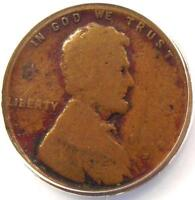 1914-D LINCOLN WHEAT CENT 1C - ANACS VG10 DETAILS -  DATE - CERTIFIED PENNY