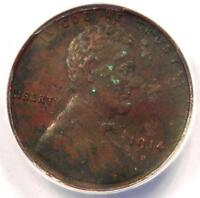 1914-D LINCOLN WHEAT CENT 1C - ANACS EXTRA FINE 40 DETAILS EF40 -  CERTIFIED PENNY