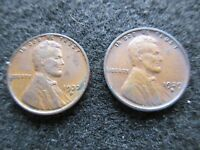 LINCOLN CENT, 1937-D & 1929-D,   UNGRADED          DAY-02675