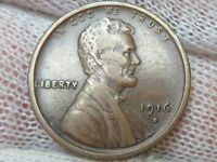 1916 S LINCOLN WHEAT CENT PENNY HIGH GRADE CIRCULATED