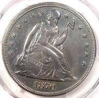 1870-CC SEATED LIBERTY DOLLAR $1 - PCGS EXTRA FINE  DETAILS EF -  CARSON CITY COIN