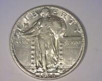 1928 STANDING LIBERTY QUARTER-DOLLAR  ABOUT UNCIRCULATED  391222-EAY