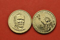 2011- P&D  BU MINT STATE ULYSSES S GRANTUS PRESIDENTIAL  DOLLAR COINS 2COINS