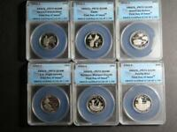 2009-S AMERICAN TERRITORIES QUARTER 6-COIN SET ANACS PR 70 DCAM FIRST DAY 1730
