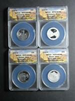 2011-S SILVER NATIONAL PARKS 4-COIN PROOF SET ANACS PR 70 DCAM FIRST STRIKES 292