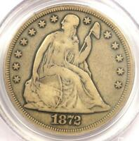 1872-CC SEATED LIBERTY SILVER DOLLAR $1 COIN - PCGS F15 - $3,950 VALUE
