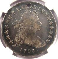 1796 SMALL EAGLE DRAPED BUST SILVER DOLLAR $1 BB-61 B-4 - NGC FINE DETAIL HOLE