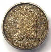 1831 CAPPED BUST HALF DIME H10C COIN - CERTIFIED ICG MINT STATE 62 BU UNC - $660 VALUE