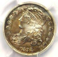 1833 CAPPED BUST DIME 10C HIGH 3 - PCGS AU DETAILS -  CERTIFIED COIN