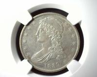 1839 CAPPED BUST HALF DOLLAR NGC AU DETAILS OBVERSE CLEANED 4434117-024
