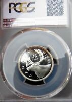 PCGS CERTIFIED PL66 CAM CANADA 1965 25 CENT SILVER UNCIRCULATED GRADED COIN