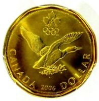 PCGS CERTIFIED MS66 CANADA 2006 LUCKY LOONIE DOLLAR GRADED
