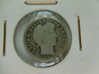 1 ONE DIME USA BARBER 10 CENT SILVER 1916 S
