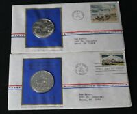 1972 FDC TWO STERLING SILVER COINS IN COMMEMORATION OF AMERICA'S NATIONAL PARKS