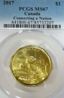 PCGS CERTIFIED MS67 CANADA CONNECTING A NATION 2017 DOLLAR FINEST GRADE