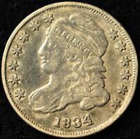 1834 CAPPED BUST LIBERTY DIME. ITEM A95