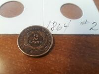 1864 2 CENT COIN 2