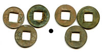 LOT OF 3 AUTHENTIC ANCIENT HAN DYNASTY WU ZHU CASH COINS CHI