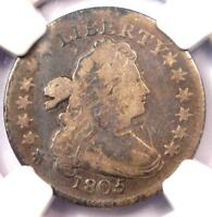 1805 DRAPED BUST DIME 10C JR-2 - CERTIFIED NGC FINE DETAILS -  COIN