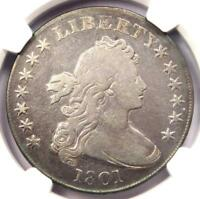 1801 DRAPED BUST SILVER DOLLAR $1 - CERTIFIED NGC FINE DETAILS -  COIN