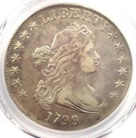 1799 DRAPED BUST SILVER DOLLAR $1 - CERTIFIED PCGS EXTRA FINE  DETAILS EF -  COIN