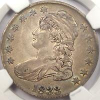 1833 CAPPED BUST HALF DOLLAR 50C - NGC AU55 -  ORIGINAL WITH RAINBOW TONE