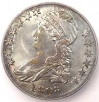 1808 CAPPED BUST HALF DOLLAR 50C O-102A - CERTIFIED ICG MINT STATE 61 BU - $2,810 VALUE