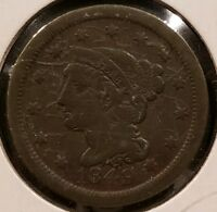 1849 BRAIDED HAIR LARGE CENT PENNY