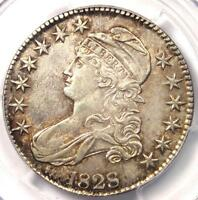 1828 CAPPED BUST HALF DOLLAR 50C - PCGS AU55 -  CERTIFIED COIN - $775 VALUE