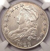 1823 CAPPED BUST HALF DOLLAR 50C - NGC AU DETAILS -  CERTIFIED COIN