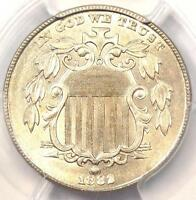 1882 SHIELD NICKEL 5C COIN - CERTIFIED PCGS UNCIRCULATED DETAILS MS BU UNC