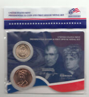 2009 WILLIAM & ANNA HARRISON PRESIDENTIAL $1 COINFIRST SPOUSE US MINT MEDAL SET