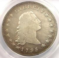 1795 FLOWING HAIR SILVER DOLLAR $1 COIN - ANACS VF20 DETAILS -  COIN