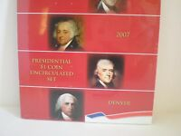 2007- D  PRESIDENTIAL $1. UNCIRCULATED 4 COIN SET. MINT SEALED