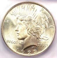 1923 PEACE SILVER DOLLAR $1 - CERTIFIED ICG MINT STATE 66 -  IN MINT STATE 66 - $390 VALUE