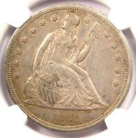 1860-O SEATED LIBERTY SILVER DOLLAR $1 - CERTIFIED NGC AU DETAILS -  COIN