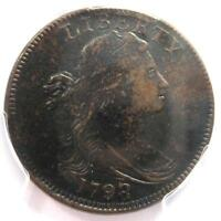 1798/7 DRAPED BUST LARGE CENT 1C - PCGS EXTRA FINE  DETAILS -  EF EARLY DATE PENNY
