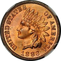 1883 1C INDIAN CENT NGC MINT STATE 64RB PHOTO SEAL