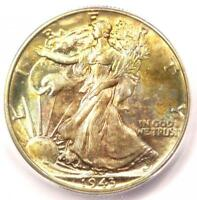 1943 WALKING LIBERTY HALF DOLLAR 50C COIN - CERTIFIED ICG MINT STATE 67 - $550 VALUE