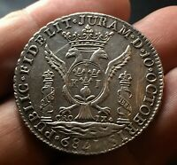 SILVER REALES MEDAL PROCLAMATION CARLOS IV. 1789. LIMA P