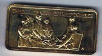 DECLARATION OF INDEPENDENCE 1 OUNCE SILVER ART BAR HAMILTON MINT 24K GOLD EGP