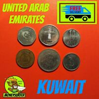 KUWAIT UAE COIN MIX LOT COLLECTION NICE VALUABLE  FILS RIAL