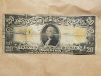 1922 $20 GOLD CERTIFICATE LARGE SIZE NOTE SPEELMAN WHITE FR 1187 NICE