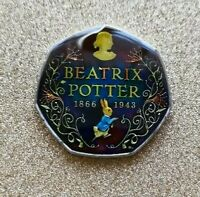 ENAMELLED COIN 50 PENCE BEATRIX POTTER   UK 2016 50P