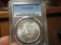 VERY PRETTY & BETTER DATED MORGAN 1880 CC PCGS MS 65 ALL WHI