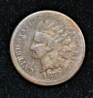 1877 ONE CENT 1C INDIAN HEAD PENNY  2