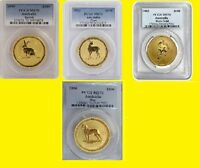 AUSTRALIA GOLD LUNAR 4 COINS SET 4 OZ PURE GOLD PCGS MS 70