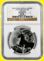 2014 UNICORN 1 OZ SILVER UNICORN   NGC   REVERSE PF 70 ULTRA